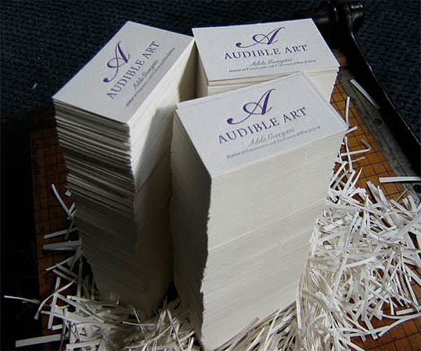 Letterpress Audible Art Business Card_6