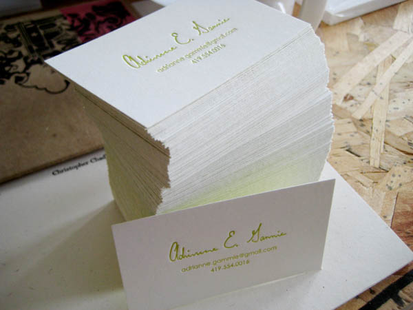 Letterpress Business Cards by Adrianne Gammie_1