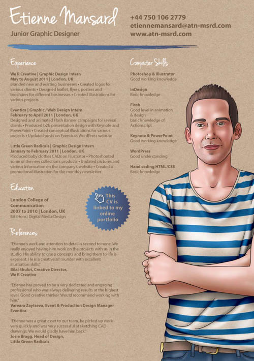 30 Great Examples Of Creative CV