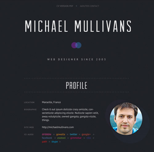 Great Examples Of Creative Cv Resume Design  Web  Graphic