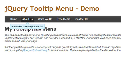 Building an Elegant Tooltip Dropdown Menu Powered by jQuery