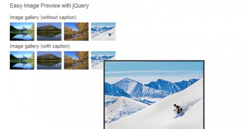 Easiest Tooltip and Image Preview with jQuery