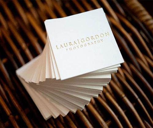 Letterpress Laura Gordon Photography Business Card