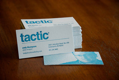 Tactic Marketing Letterpress Business Card