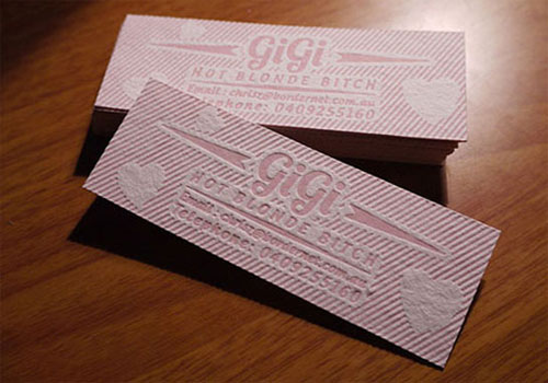 Gigi Letterpress Business Card