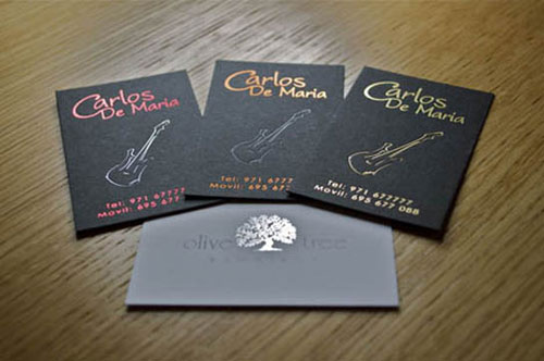 Metallic Foil Business Card