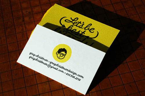 Greg Christman Letterpress Business Cards