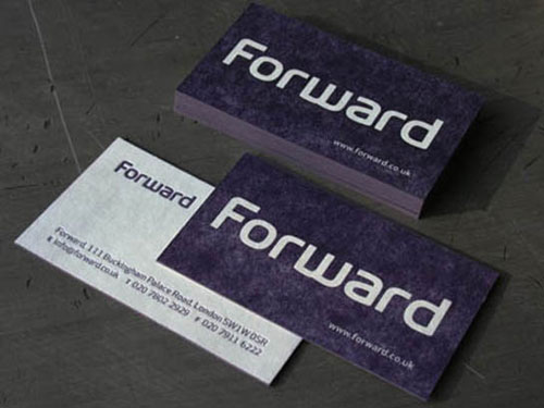 Forward Blotter Business Cards