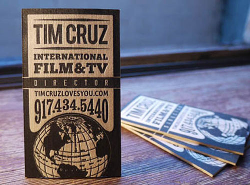 Creative Letterpress Balsa Wood Business Cards
