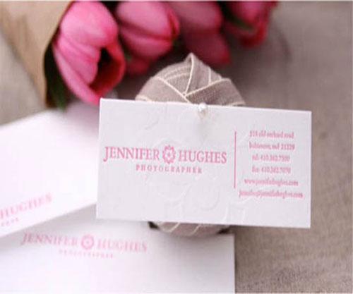 Jennifer Hughes Photographer Business Card
