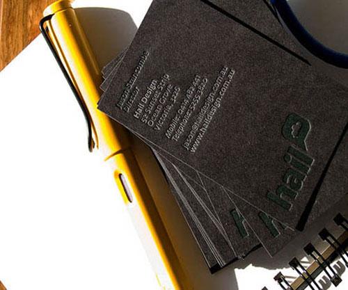 Hail Design Letterpress Business Card