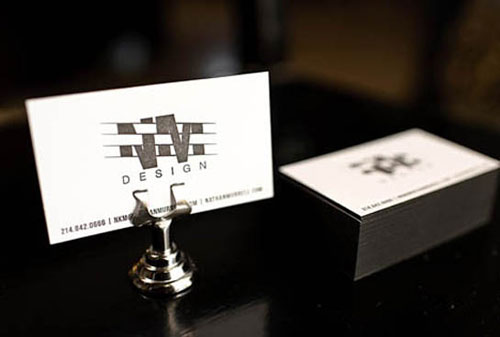Simply Black & White Letterpress Business Cards
