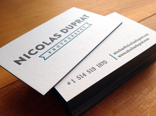 45 Inspiring Letterpress Business Cards | Web & Graphic Design
