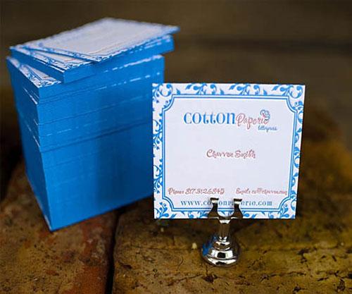 Cotton Paperie Letterpress Business Card
