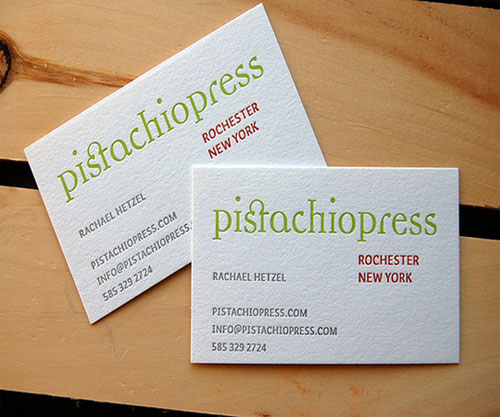Cool Pistachio Press Business Card
