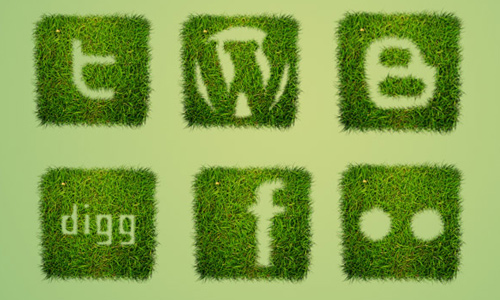 grass textured social bookmarking
