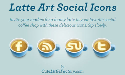 latte art social icons