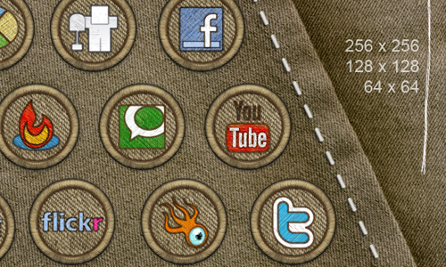 Social Media Icon Badges