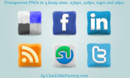 furry cushions social icons