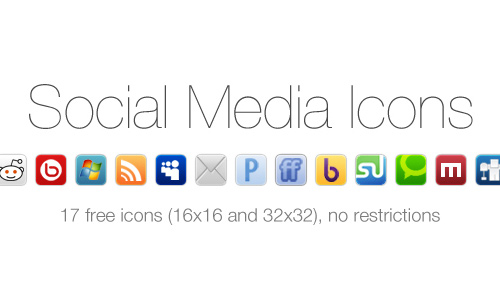 50 amazingly free social media icon sets web graphic design social media icons two reheart Image collections