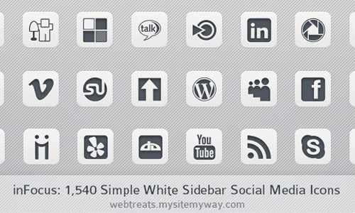 white sidebar social media icons