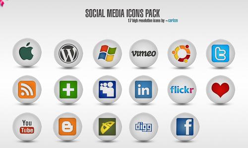 Social Media Icons art