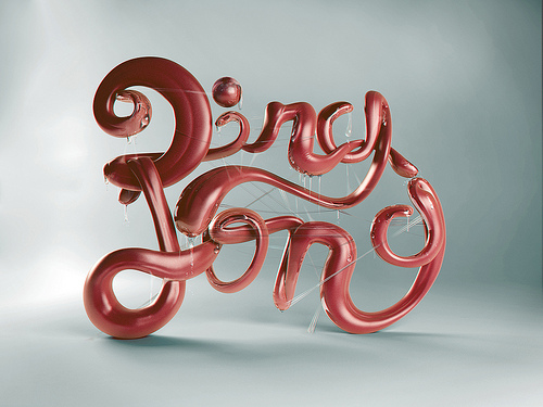 Pics For > 3d Typography Tutorial