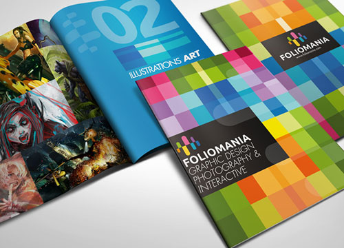 Foliomania the designer portfolio brochure