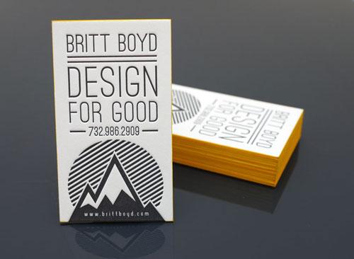 Thiết kế cho danh thiếp Letterpress tốt
