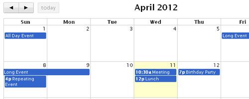 10+ Useful jQuery Date Picker, Event & Calendar Plugins