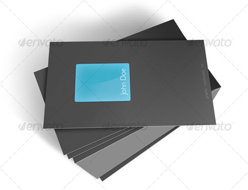 Glass Business Card