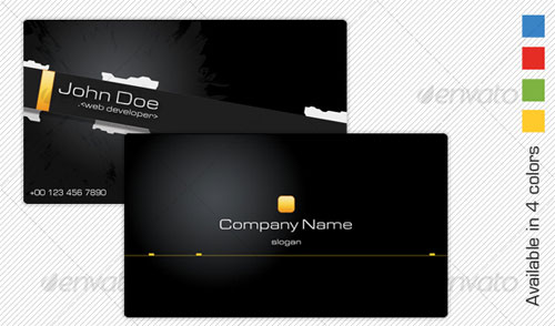 Modern Corporate PSD Business Card Templates Web Graphic - 35 x2 business card template