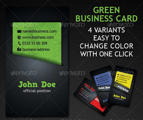 Green Business Card 4 Variation