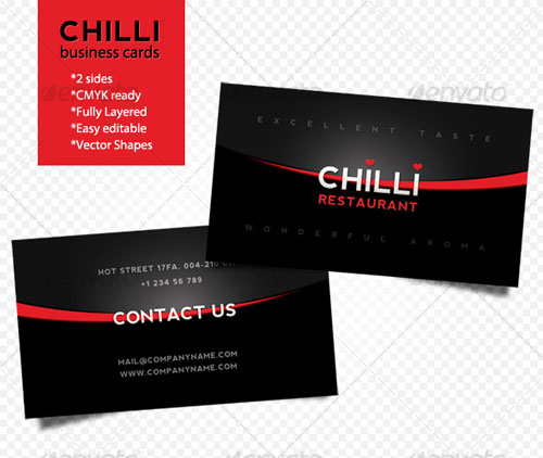 Chilli business cards