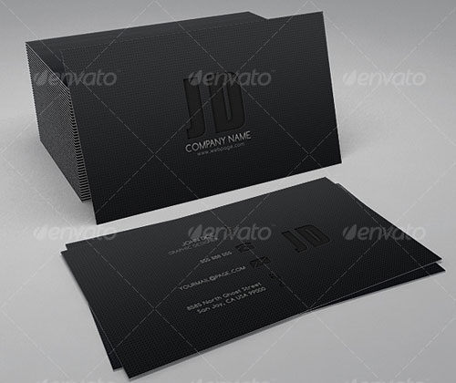 Sleek & Dark Business Card