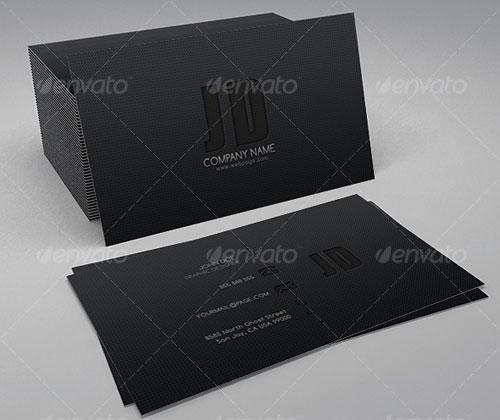 Sleek & Dark Business Card
