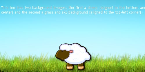 Multiple Backgrounds with CSS3
