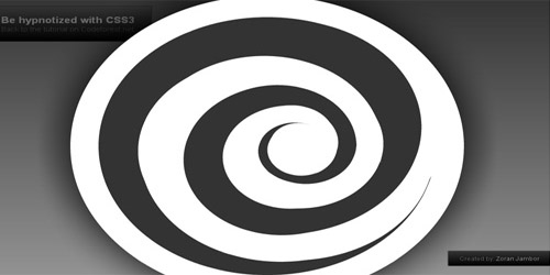 Be hypnotized with pure CSS3 (creating an animated css3 spiral)