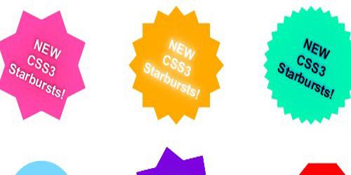CSS3 starbursts