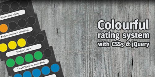jQuery quickie: Colourful rating system with CSS3