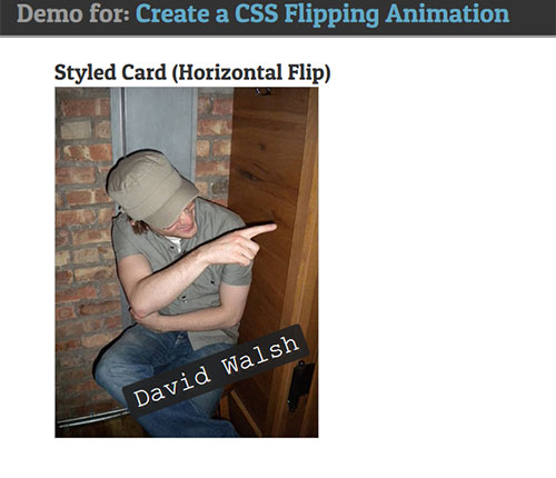 flip css3 animation