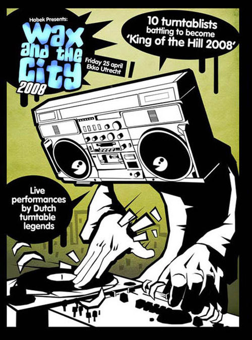 Hip hop party flyer designs