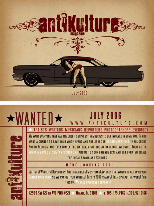antikulture wanted flyer