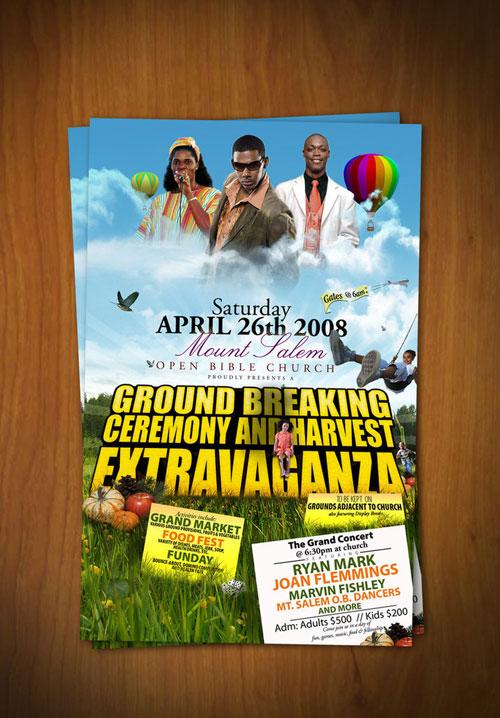 harvest extravaganza flyer
