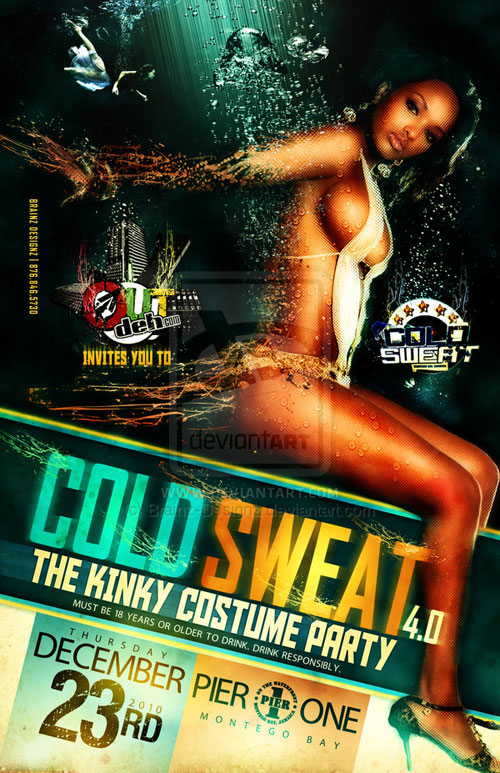 Cold Sweat - Party Flyer Front