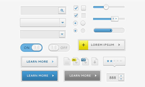 Free PSD File: UI Elements