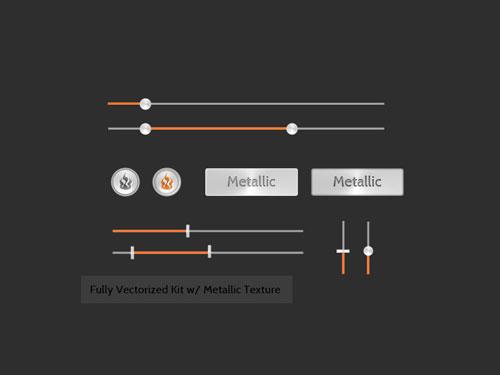Metallic Orange UI Kit