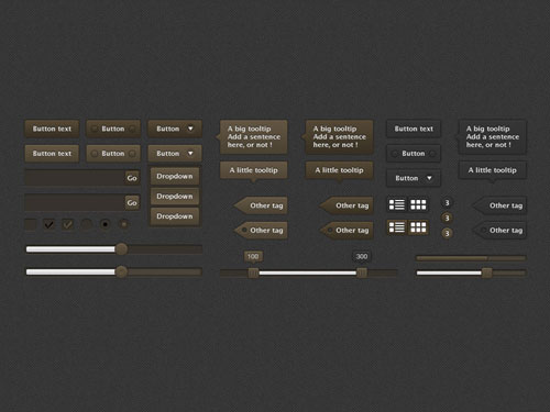 Black and gold UI Kit