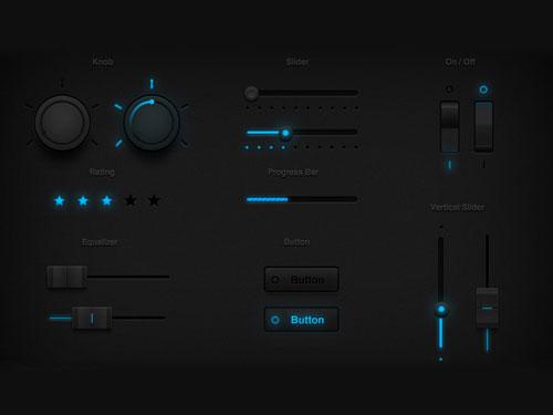 Tron Glow UI Set