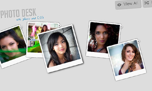 Interactive Photo Desk with jQuery and CSS3